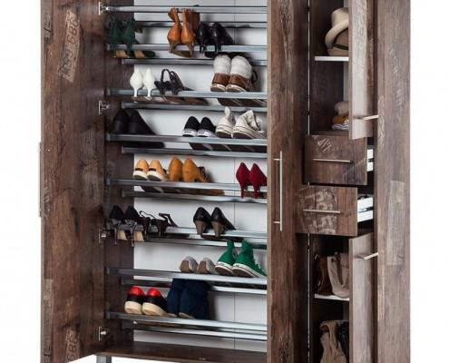Innenansicht Goliath Schrank für Schuhe