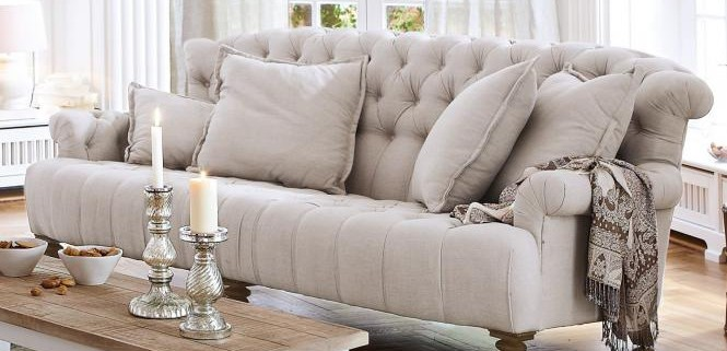 Chesterfield-Stil Sofa
