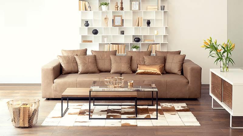 Couch couchtisch sideboard und wandregal design m bel for Komplette wohnzimmereinrichtung