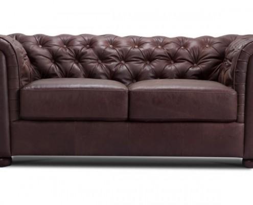Zweisitzige Sofa aus Leder