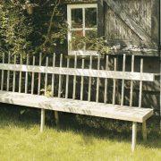 Gartenbank aus Pinienholz