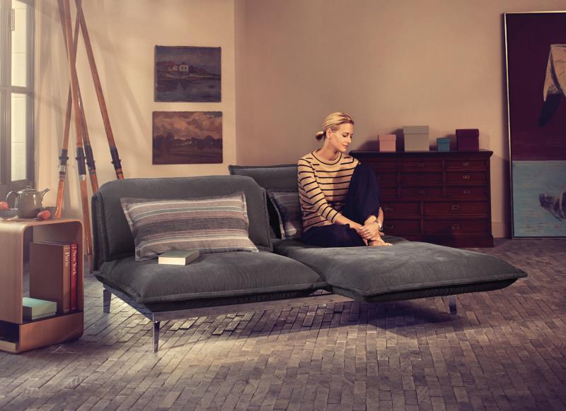 sofa von rolf benz auf der imm cologne design m bel. Black Bedroom Furniture Sets. Home Design Ideas