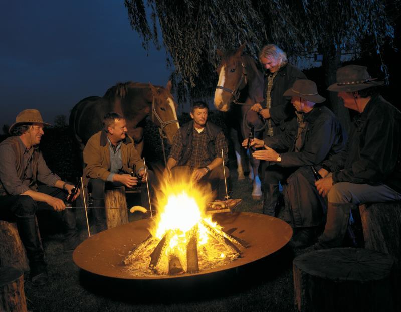 Feuerschale Qrater auch für große Lagerfeuer geeignet