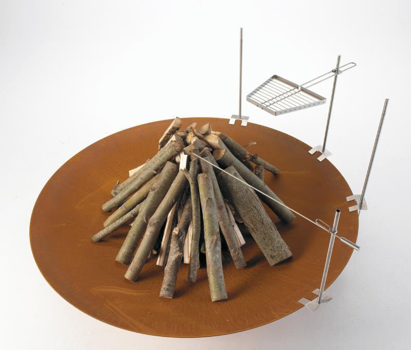 Feuerschale Qrater mit Spießhalter