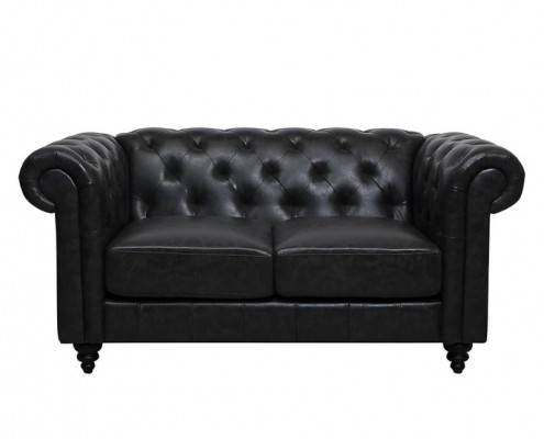 Chesterfield Sofa Charly in schwarz