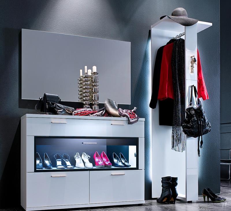 Schuhschrank arano i hochglanz weiss 2 design m bel for Schuhschrank luxus