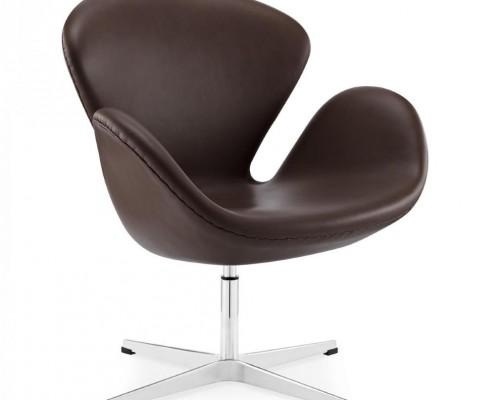 Swan Chair von Arne Jacobsen - Anilinleder