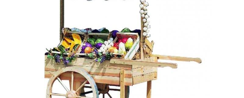 Marktwagen zur Gartendekoration