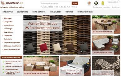 Der online Möbel Shop Polyrattan24 ist auf Gartenmöbel spezialisiert.