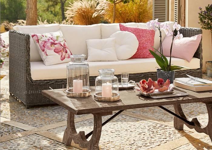 Gartensofa mit Flechtung aus Polypropylen