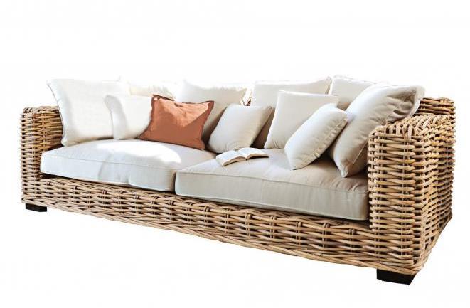 sofa rattan natur design m bel. Black Bedroom Furniture Sets. Home Design Ideas
