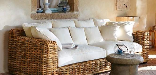 Sofa aus Naturrattan