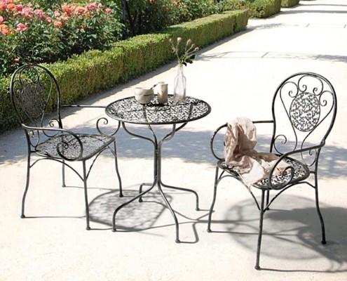 Balkonmöbelset aus Stahl, stabil und witterungsbeständig