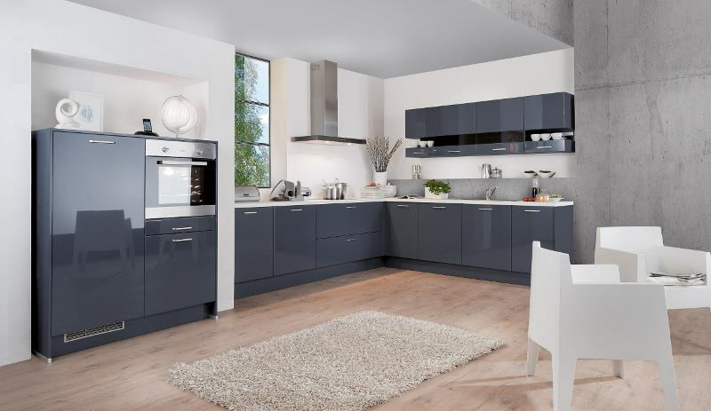 kueche almira blau grau hochglanz design m bel. Black Bedroom Furniture Sets. Home Design Ideas