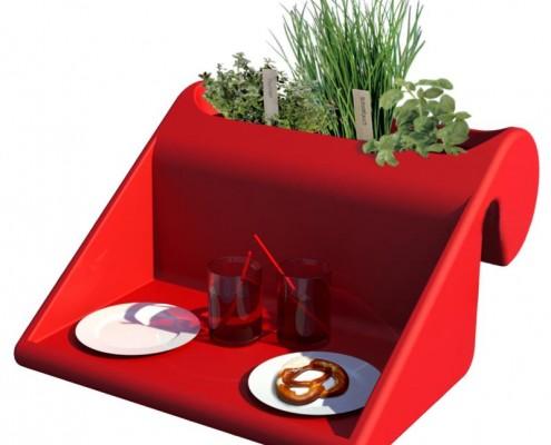 Tisch für das Balkongeländer
