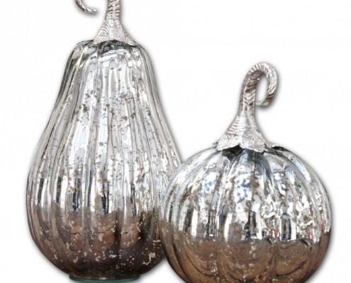 Wohnaccessoires für den Herbst - Kürbisse aus Glas