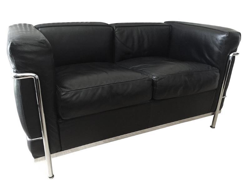 lc2 sofa von le corbusier design m bel. Black Bedroom Furniture Sets. Home Design Ideas