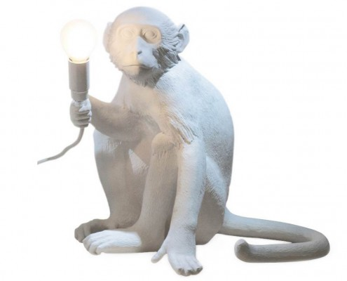 Tischlampe in Affenform