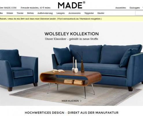 Made online Möbelshop