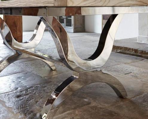 Tischgestell aus Edelstahl
