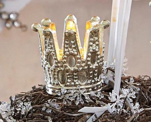 Kerze für Adventskranz