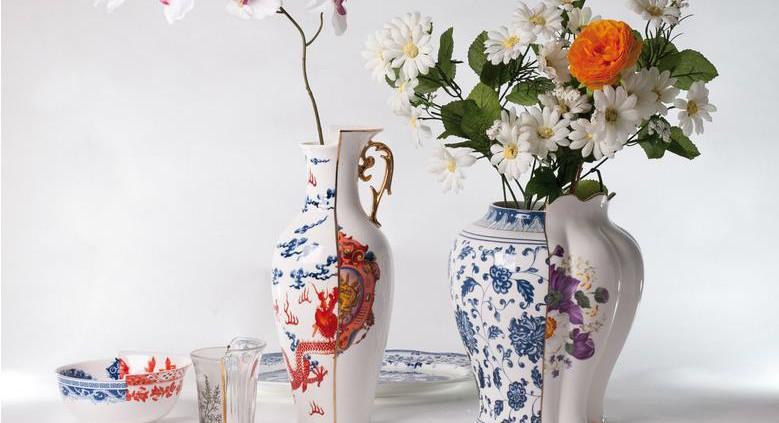 Vase aus dem Geschirr Hybrid