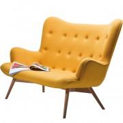 Wunderbares Vintagesofa in gelb