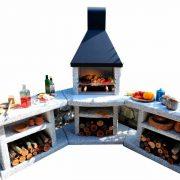 Outdoorkueche der perfekte Grillplatz