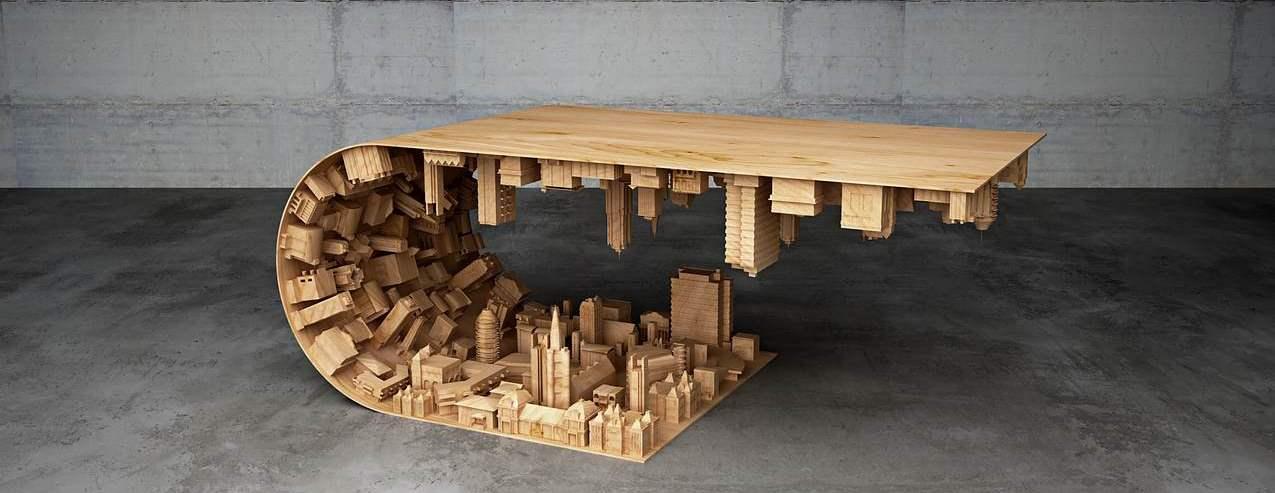 Wenn couchtisch und esstisch zum kunstwerk werden design for Couchtisch und esstisch in einem