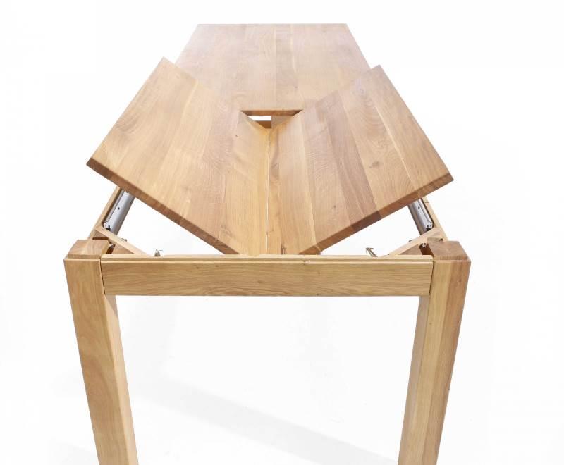 Esstisch ausziehbar Lampione in Holz massiv - Mechanik
