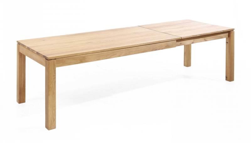 Esstisch ausziehbar Lampione in Holz massiv - ausgezogen