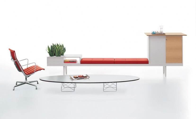 Klassischer Design Couchtisch - Elliptical Table Rod Base, von Charles und Ray Eames