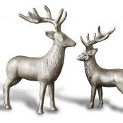 Weihnachtsdeko Hirsche aus Aluminium