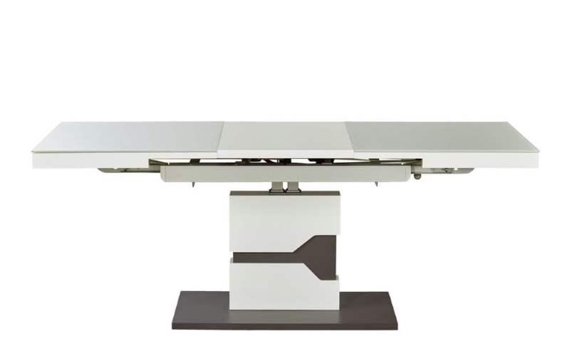 Couchtisch Höhenverstellbar und ausziehbar in weiß