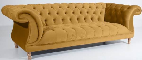 Max Winzer® Chesterfield 3-Sitzer Sofa »Isabelle«, mit edler Knopfheftung, Breite 260 cm