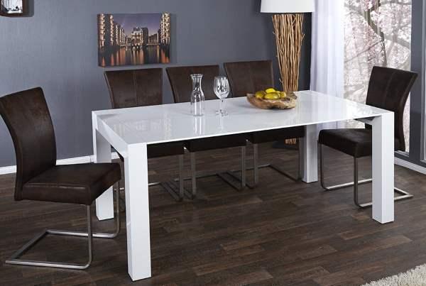 Tisch X7, weiss, 180-220-270 cm mit Ausziehfunktion