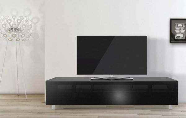 just-racks TV-Lowboard »JRL1651S« mit stoffbespannter Klappe, Breite 165 cm