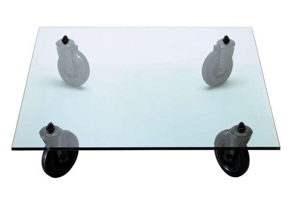 FontanaArte - Tavolino con ruote Sofatisch, 110x110 cm