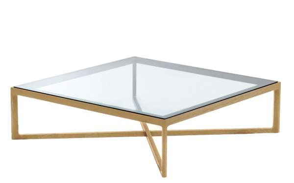 Marc Krusin Coffee Table, Eiche / Glasplatte