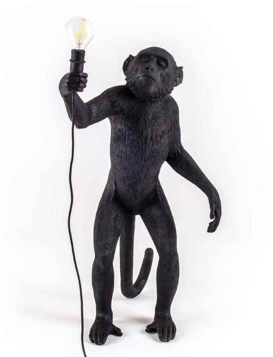 Seletti Monkey Lamp Schwarz - Stehend Schwarz