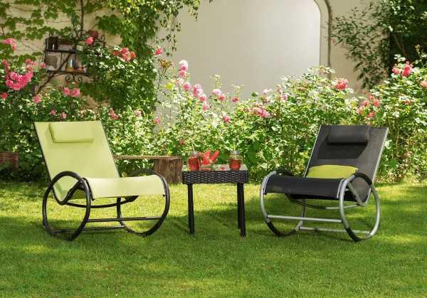 Entspannen im schaukelstuhl design m bel for Design schaukelstuhl garten