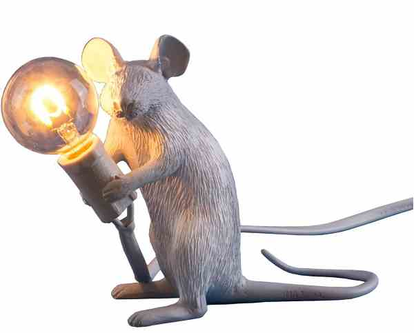 Seletti Mouse Lamp - Sitzend Weiß