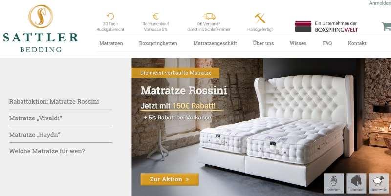 Sattler-Bedding der Spezialist für Betten und Matratzen
