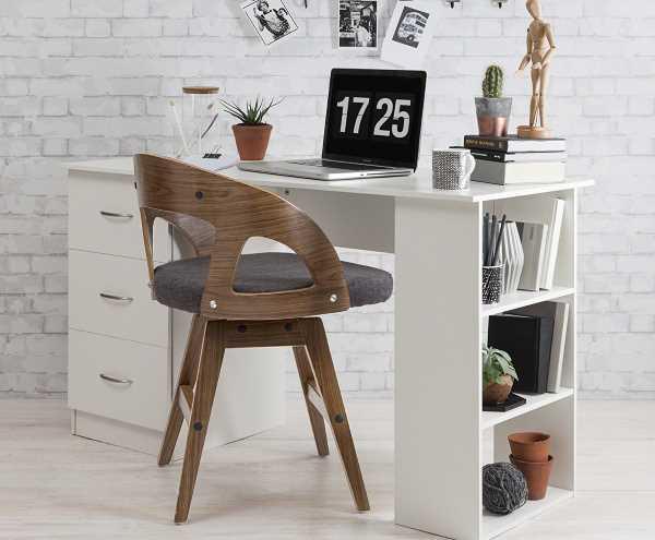 Schreibtisch weiß ideal für Studentenwohnungen